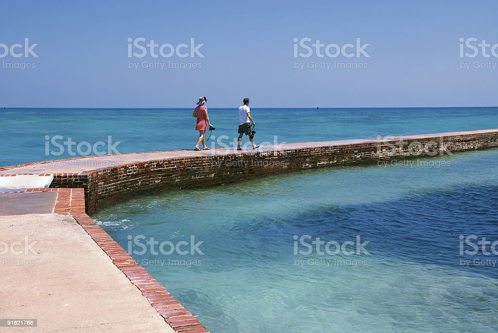 Photographers at Dry Tortugas National Park stock photo