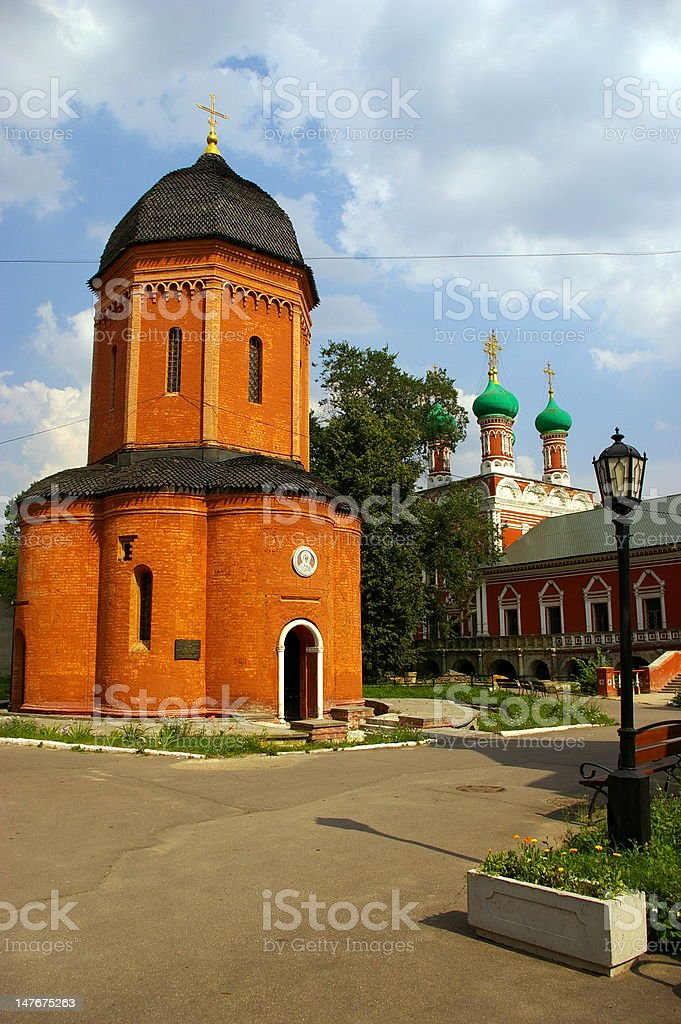 Visoko-Petrovskii Monastery in Moscow royalty-free stock photo