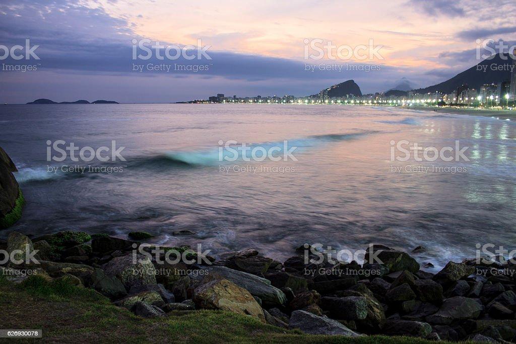 Vista da Praia do Leme stock photo
