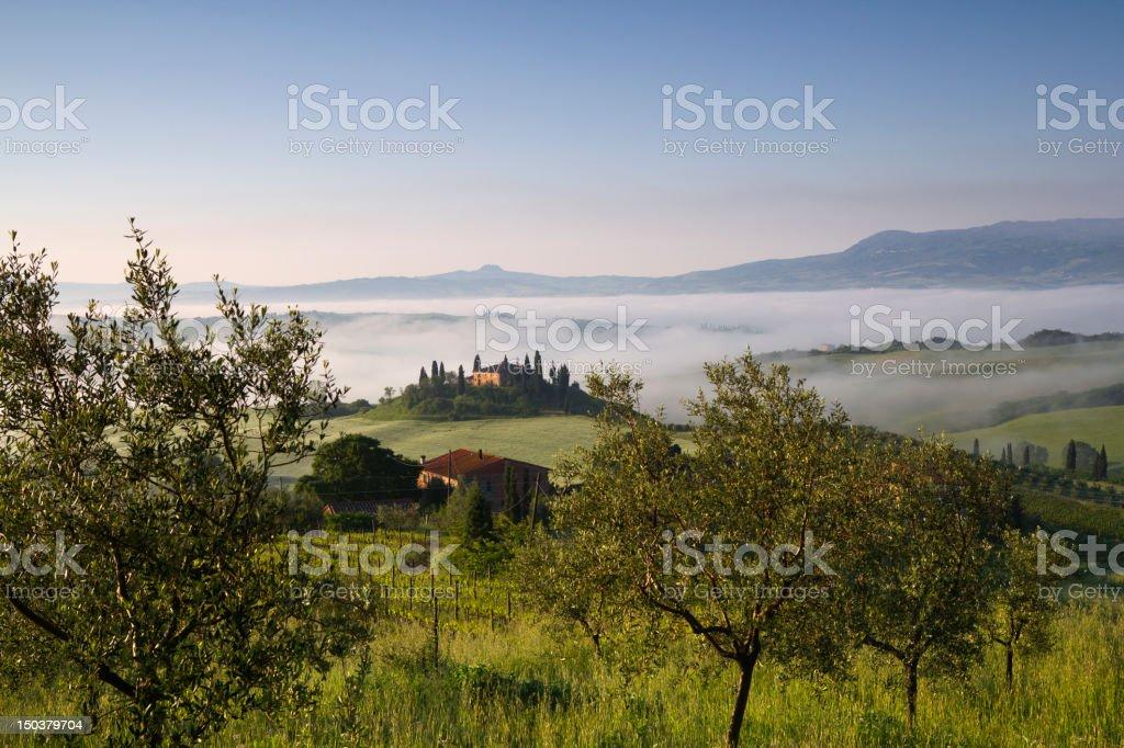 Vista da San Quirico Val d'Orcia - Tuscany Belvedere stock photo