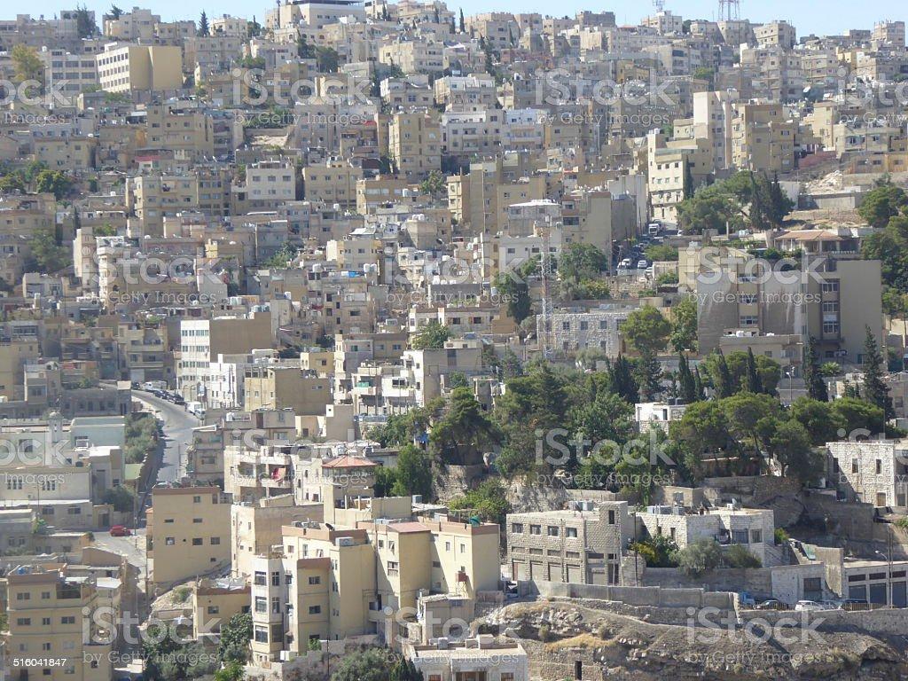Vista de la ciudad de Amman stock photo