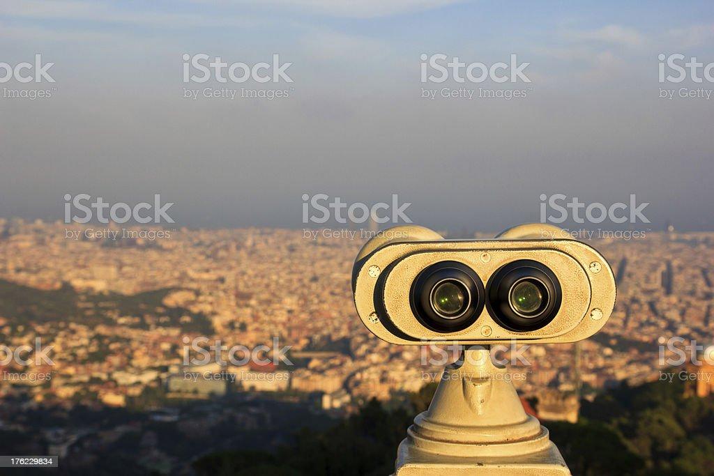 Vista desde el Tidabo stock photo