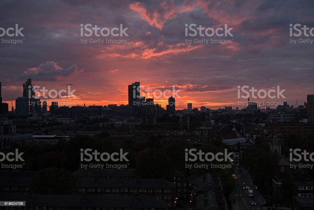 Vista di Londra stock photo