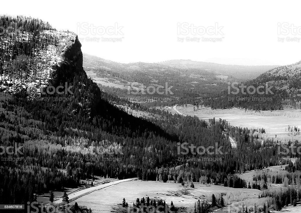 Vista in Colorado stock photo