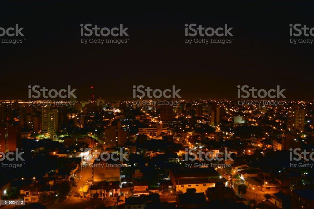 Vista Nocturna ciudad stock photo