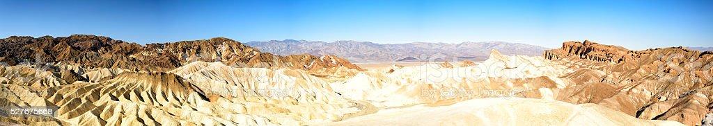 Vista of Badlands at Zabriskie Point in Death Valley stock photo