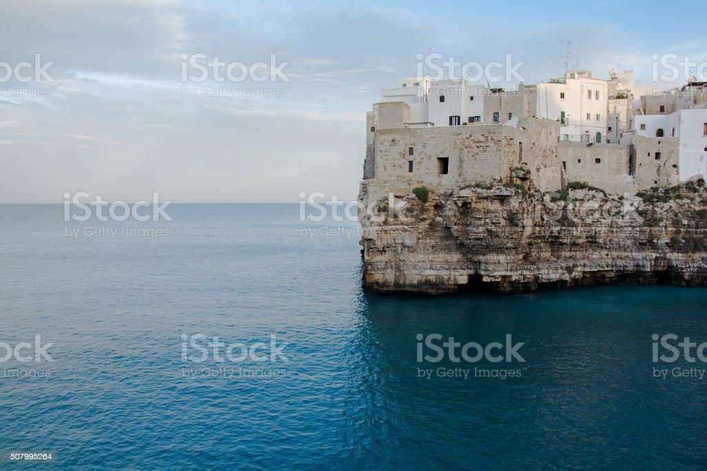Vista panoramica di Polignano a Mare stock photo