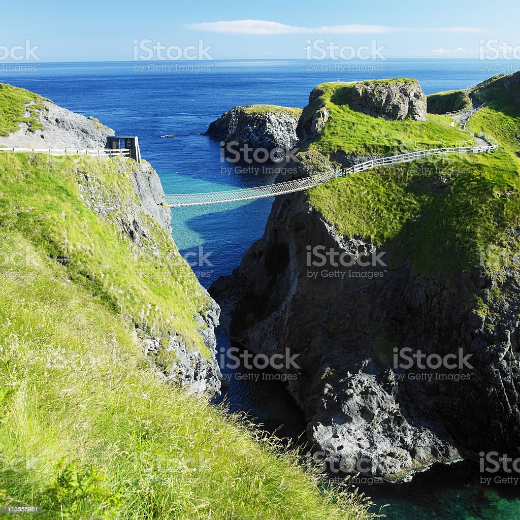 Vista photo of Carrick-a-rede Rope Bridge stock photo
