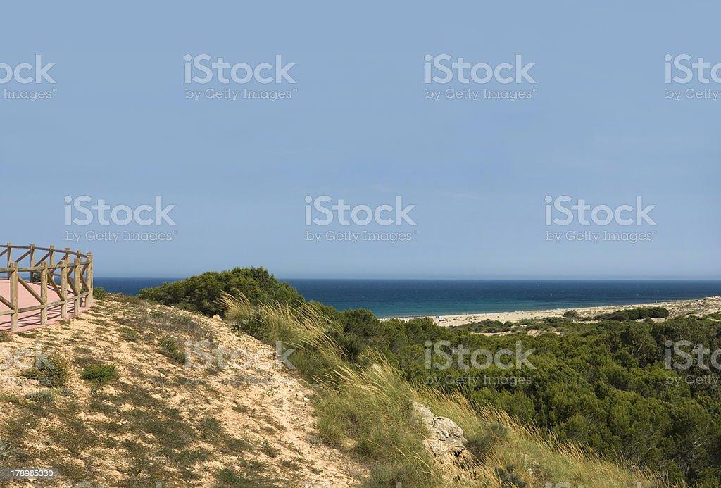 Vistas a la playa. royalty-free stock photo