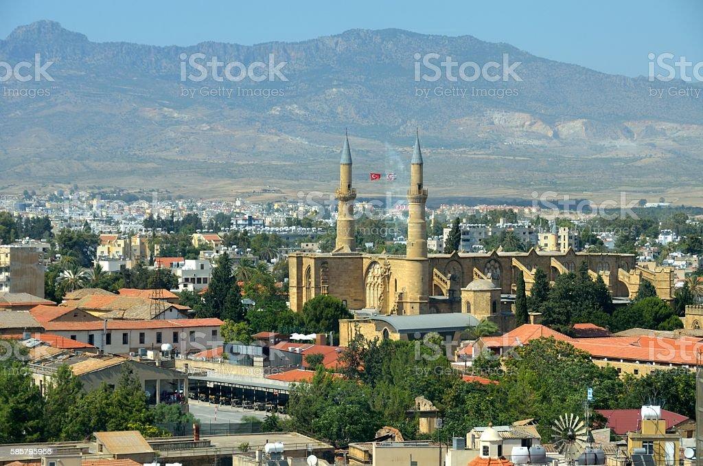Vistas panoramicas de Nicosia, Chipre stock photo
