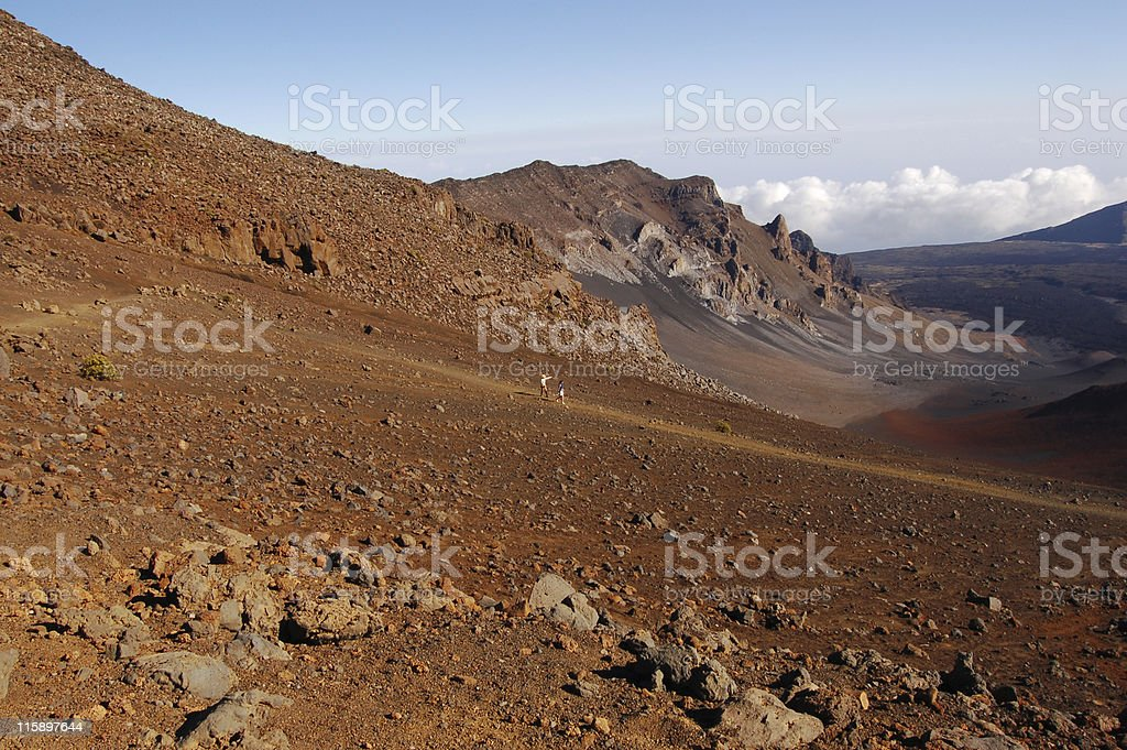 Visting The Crater stock photo
