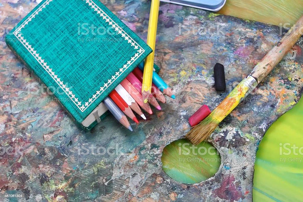 Visual Arts Background stock photo