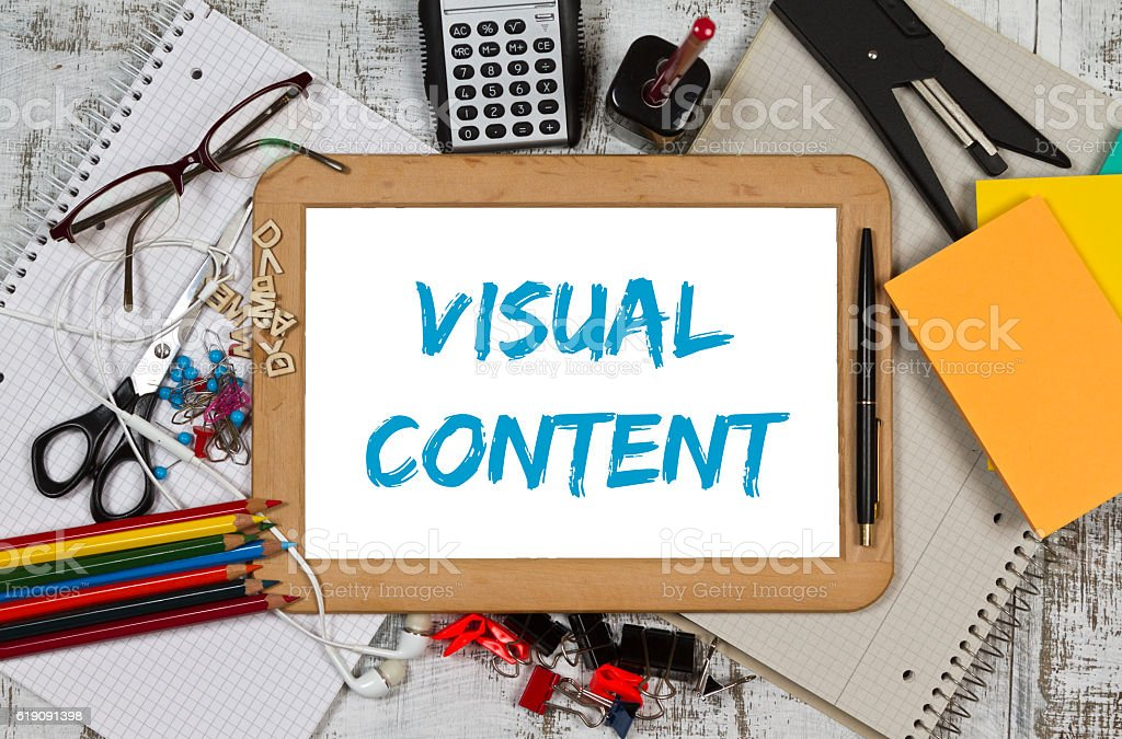 Visual content stock photo