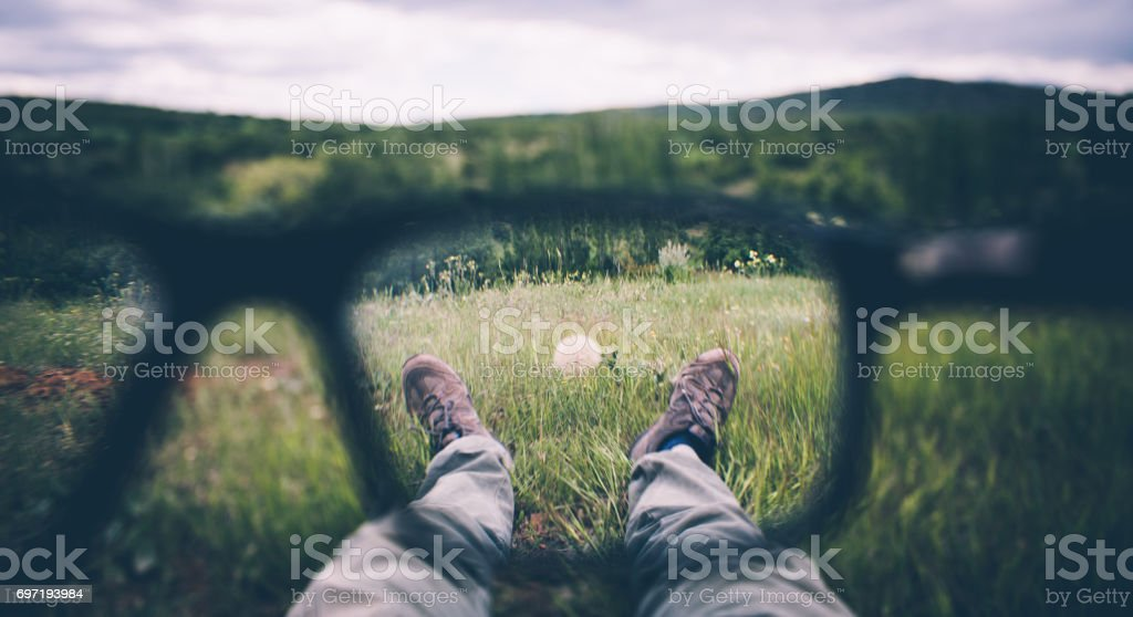 visual impairment stock photo