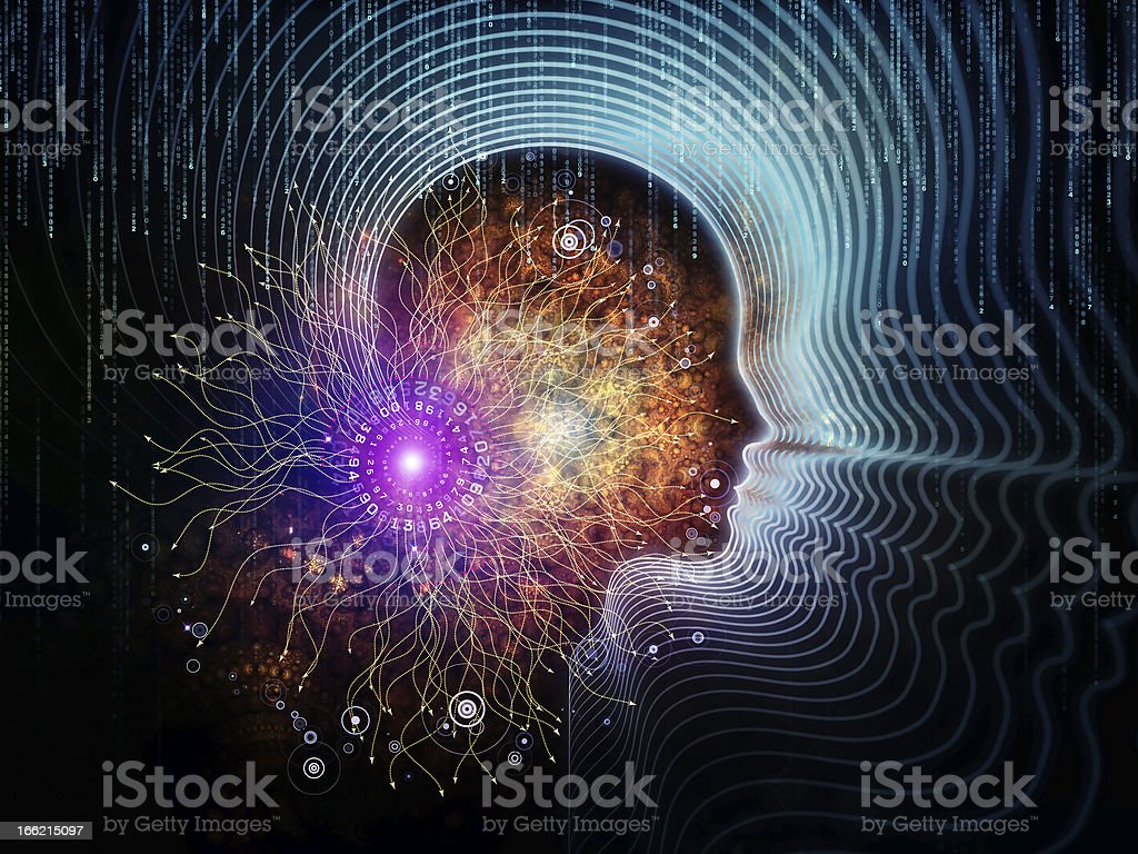 Visualization of Human Technology royalty-free stock photo