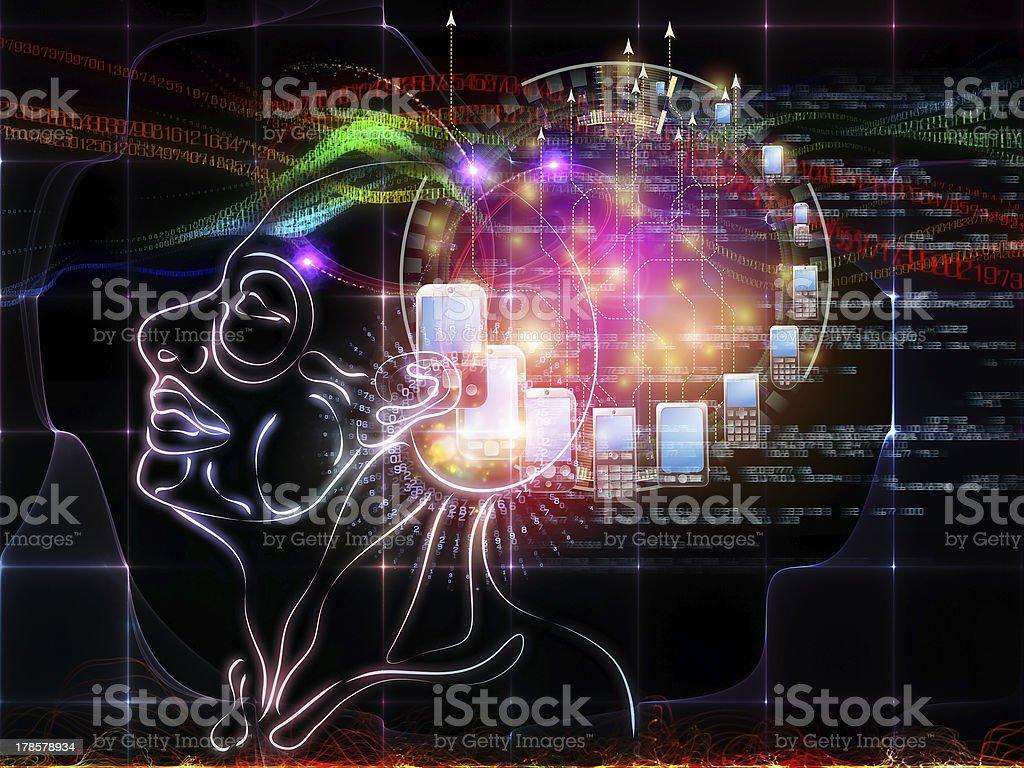 Visualization of Intelligence royalty-free stock photo