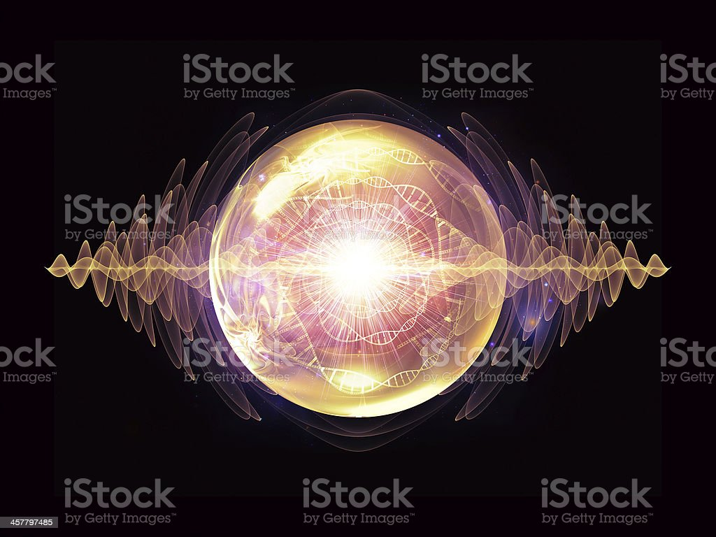 Visualization of Wave Particle royalty-free stock photo