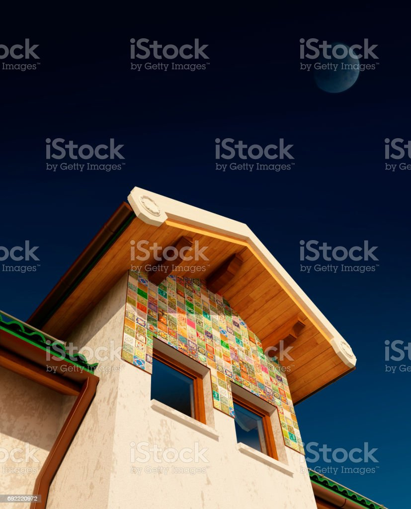 visualization, rendering, architecture,  illustration. Drea stock photo
