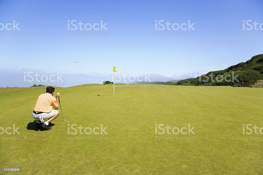 Visualize the Putt royalty-free stock photo