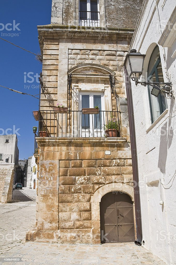 Vitale palace. Ceglie Messapica. Puglia. Italy. stock photo