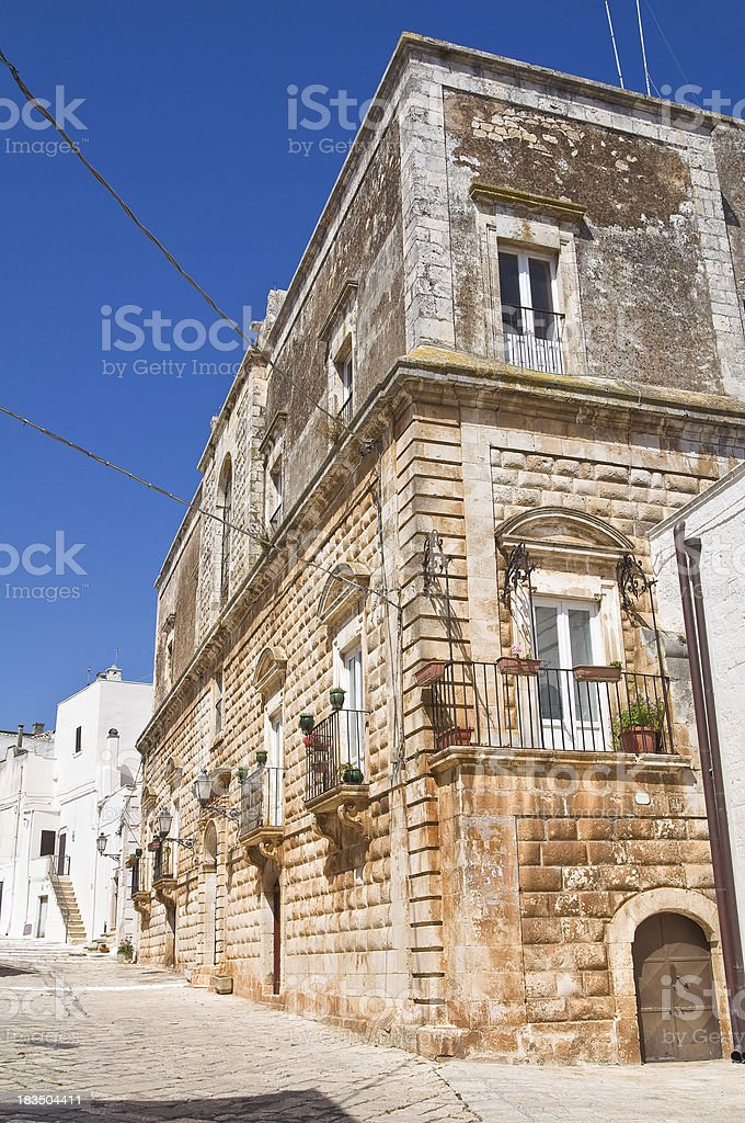 Vitale palace. Ceglie Messapica. Puglia. Italy. royalty-free stock photo
