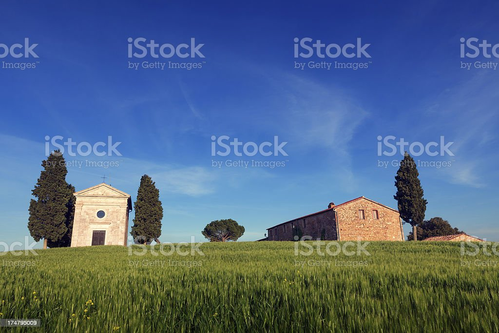 Cappella Di Vitaleta stock photo
