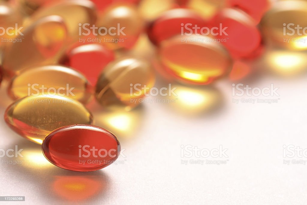 vitamin A and E gel capsules royalty-free stock photo
