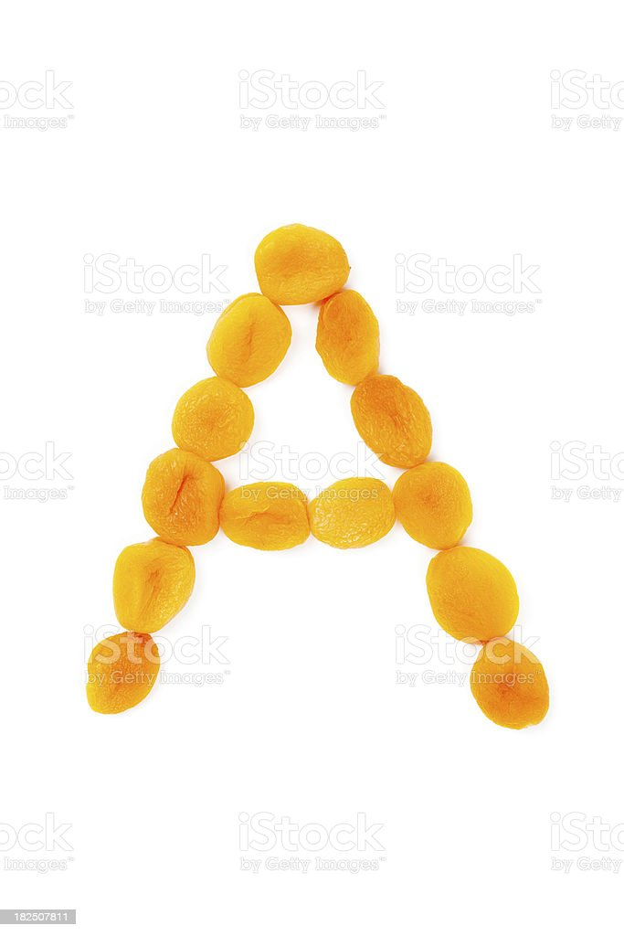 Vitamin A - Apricot royalty-free stock photo