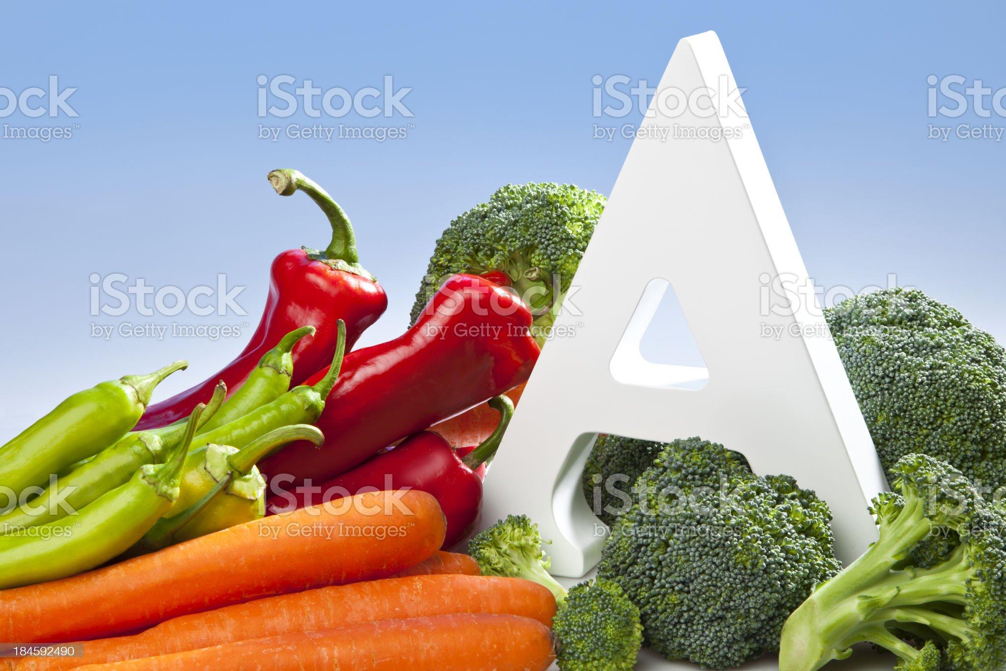 Vitamin A royalty-free stock photo