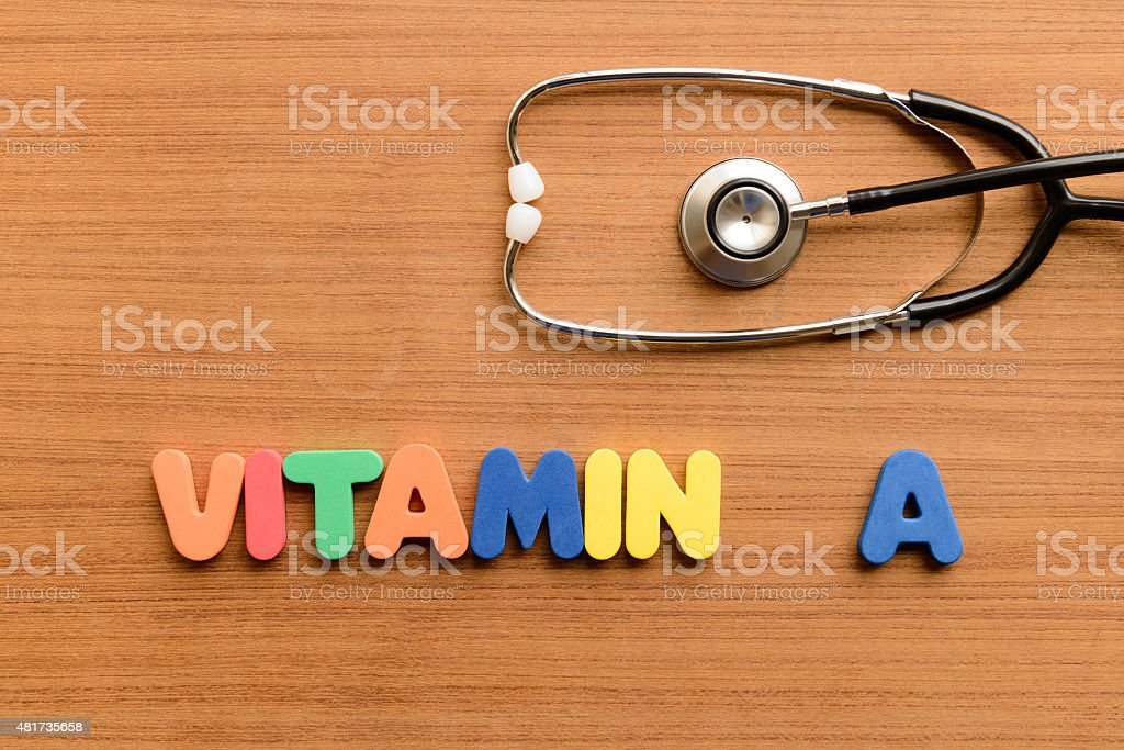vitamin A stock photo