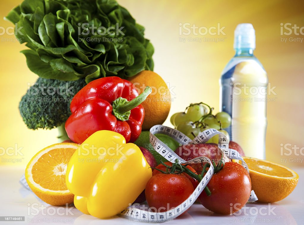 Vitamin and Fitness diet royalty-free stock photo