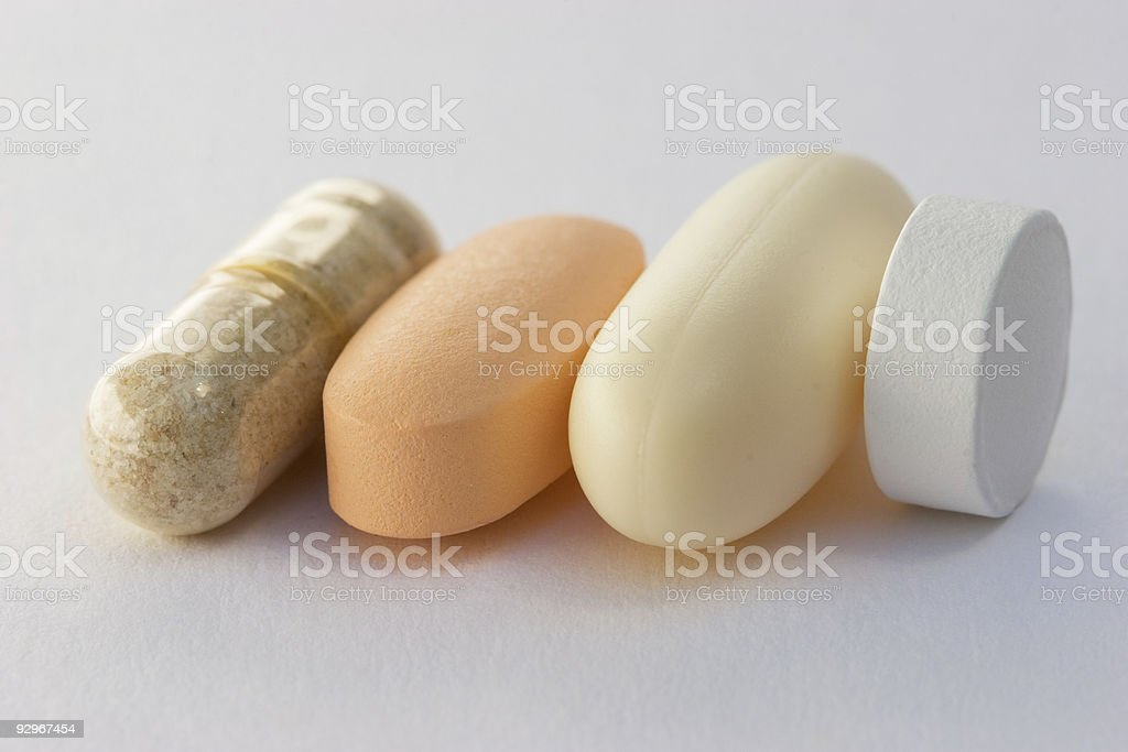 Vitamin and supplement pills royalty-free stock photo