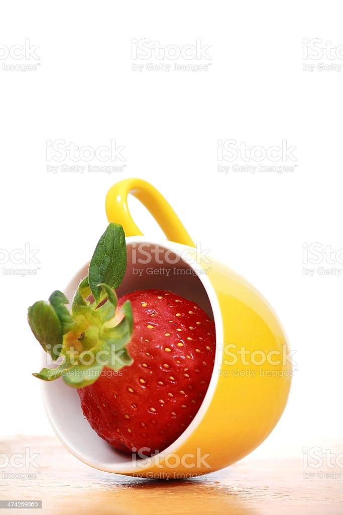 Vitamin and Vivid strawberry stock photo