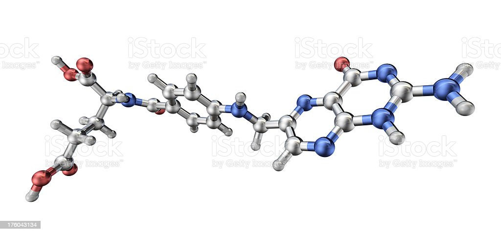 Vitamin B Model royalty-free stock photo