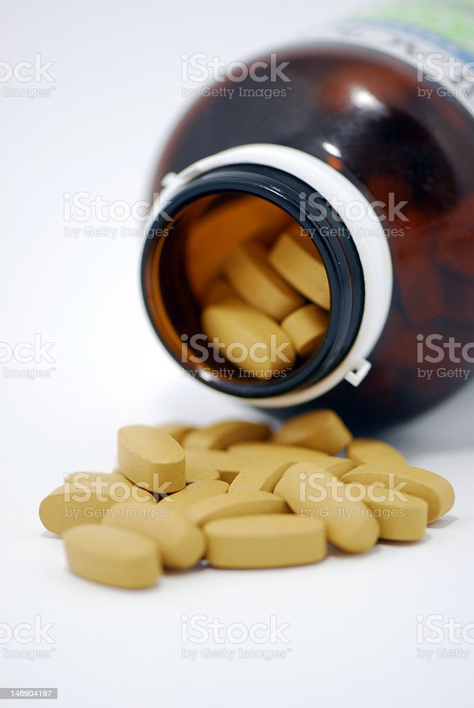 Vitamin B tablet royalty-free stock photo