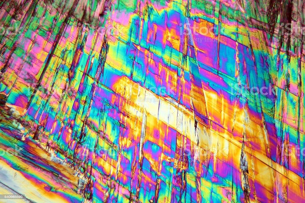 Vitamin B under a microscope stock photo