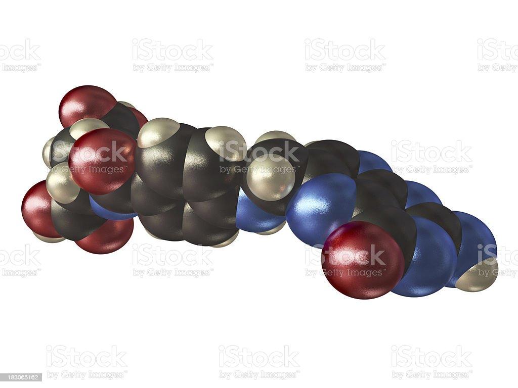 Vitamin B9 Model stock photo