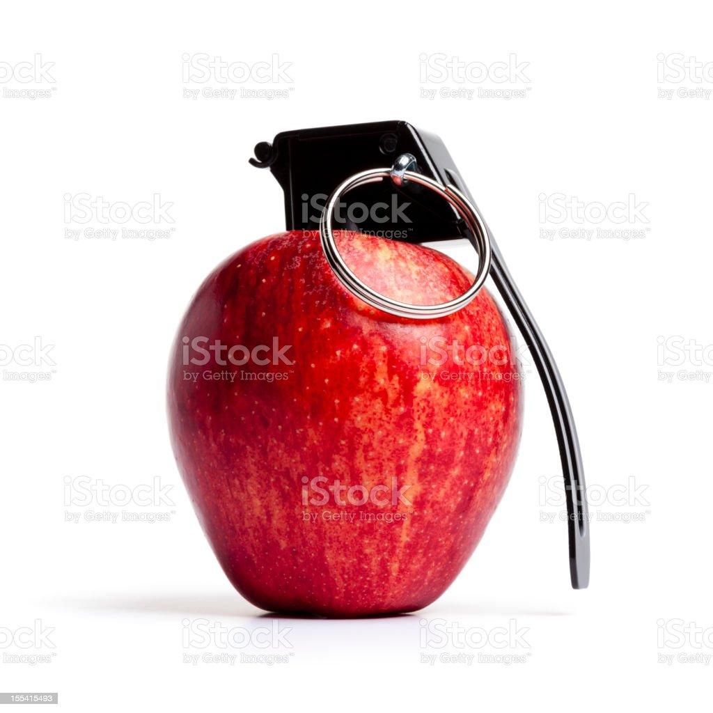 Vitamin Bomb - Apple Grenade Fruit stock photo
