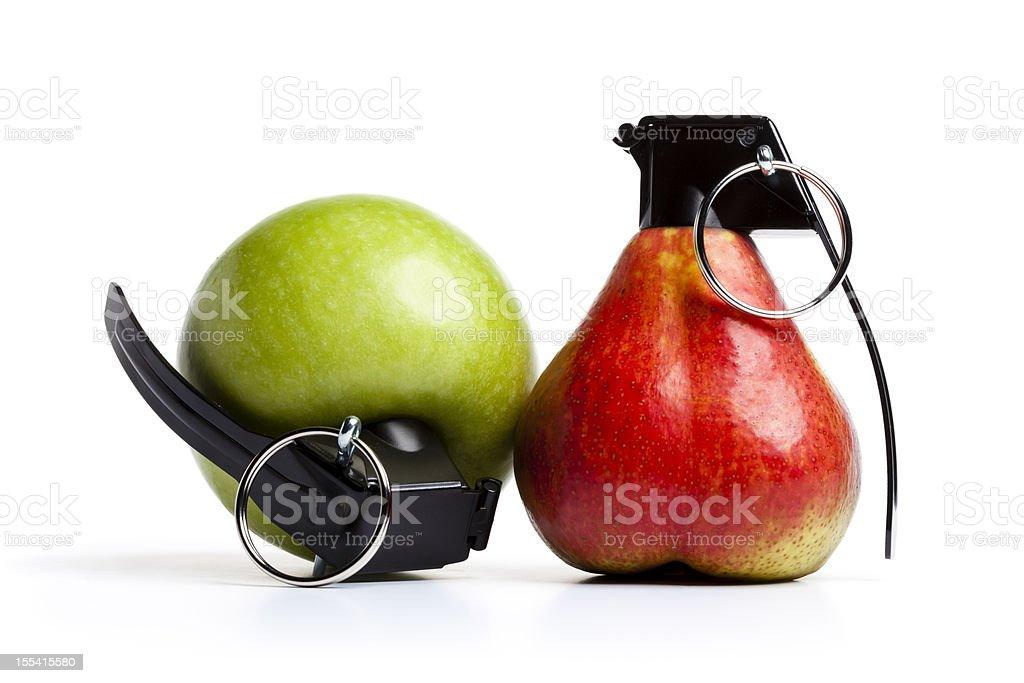 Vitamin Bombs - Apple Pear Grenade Fruit stock photo
