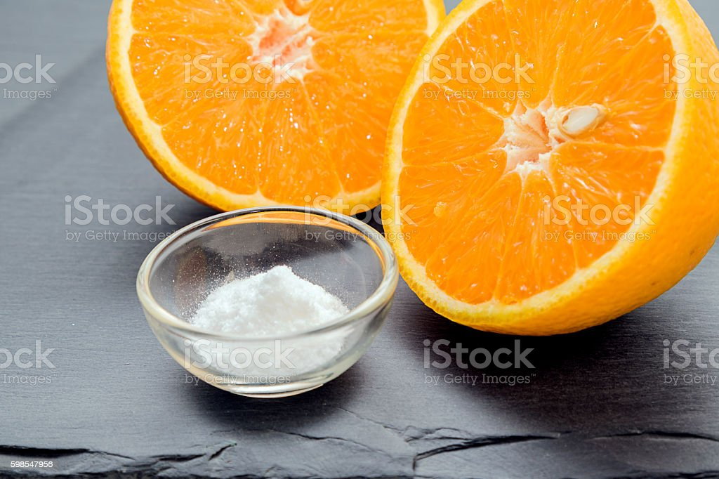 Vitamin C , ascorbic acid stock photo