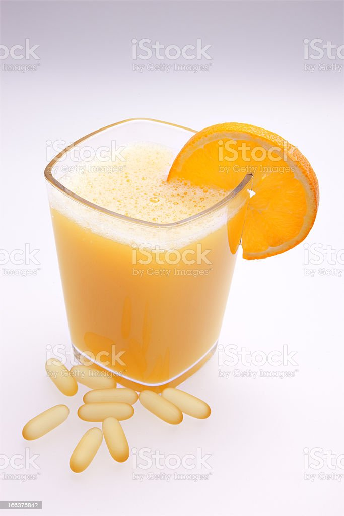 Vitamin C Cocktail for Cold and Flu royalty-free stock photo