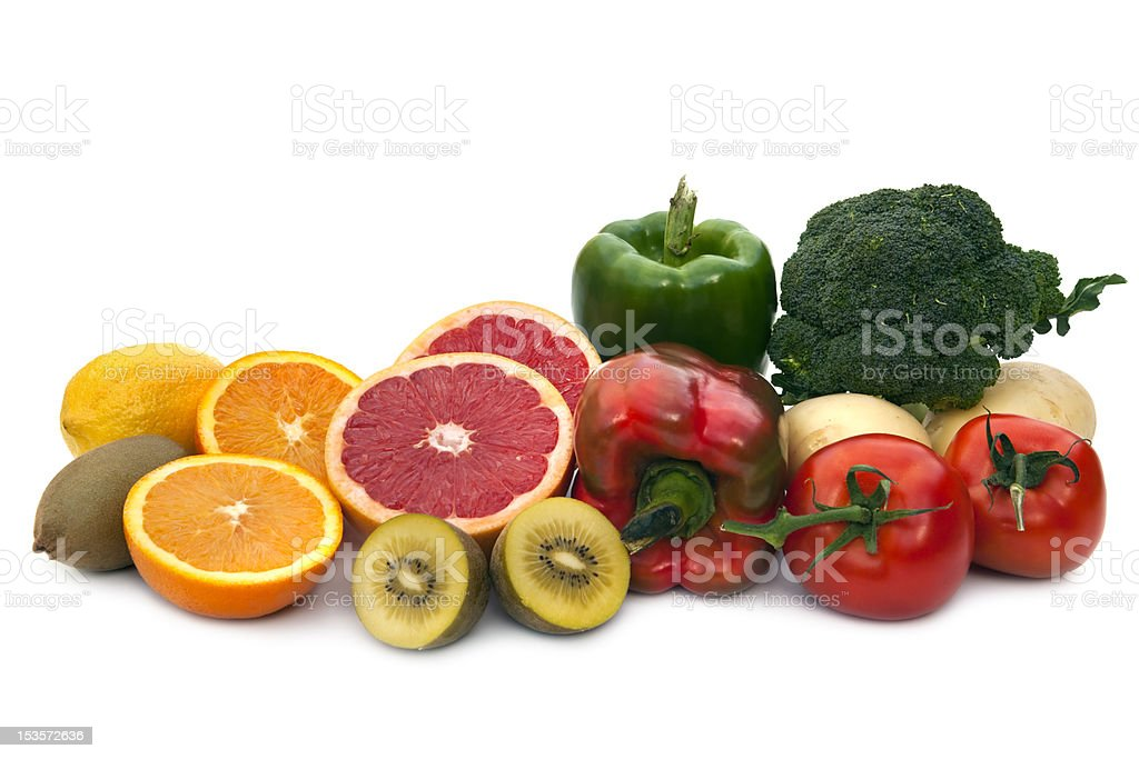 Vitamin C Food Sources royalty-free stock photo