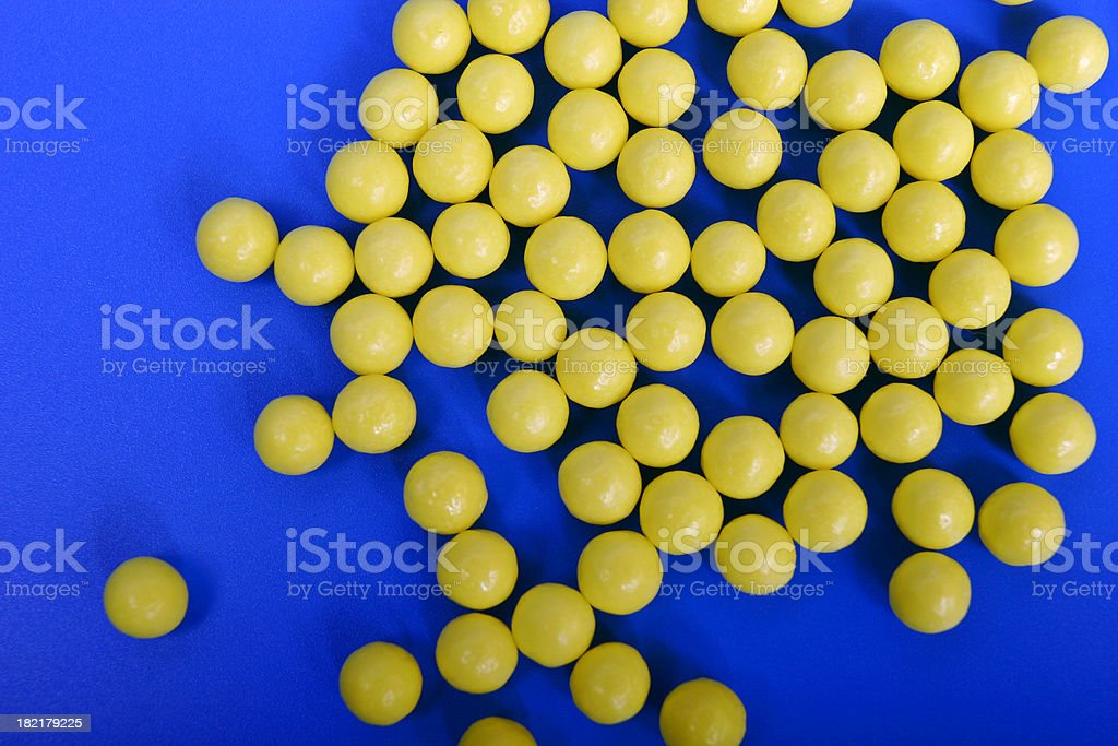 Vitamin C on blue royalty-free stock photo