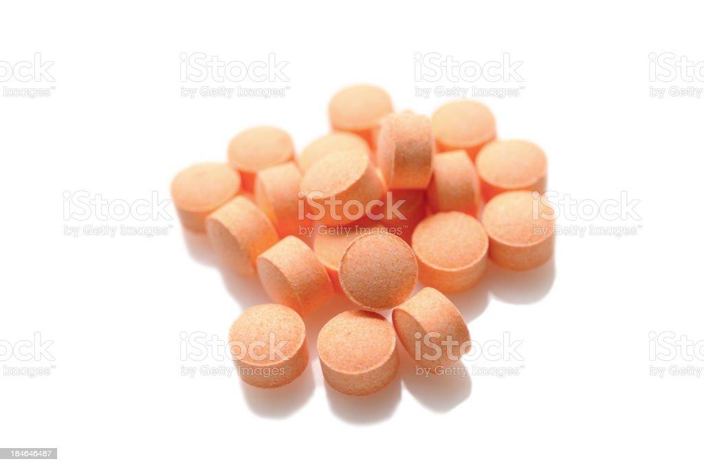 Vitamin C pills stock photo