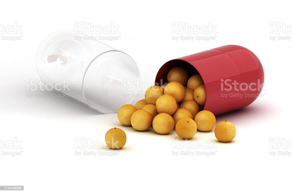 Vitamin concept royalty-free stock photo
