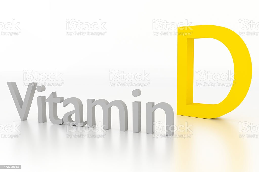 vitamin d 3d illustration on white surface stock photo