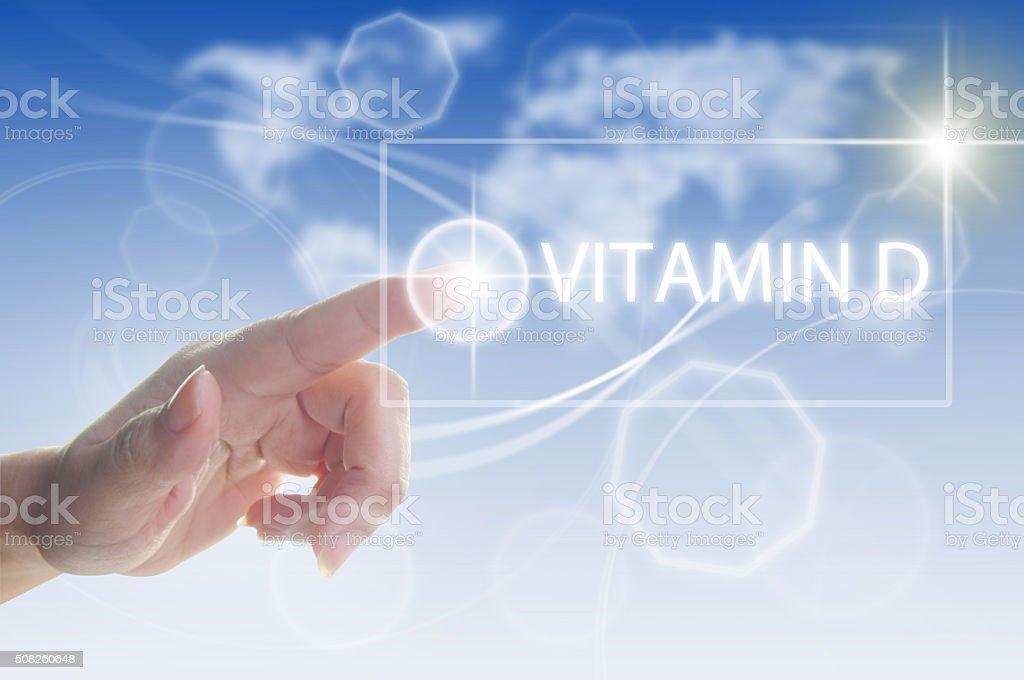 Vitamin D concept stock photo