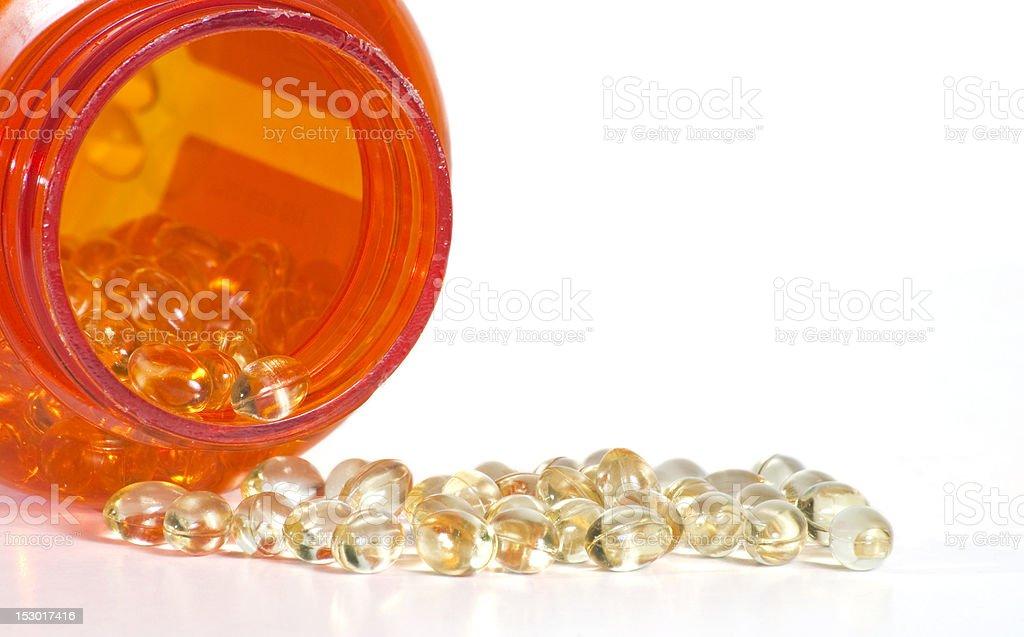 Vitamin D Softgegs stock photo