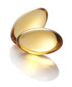 Vitamin E gel capsules