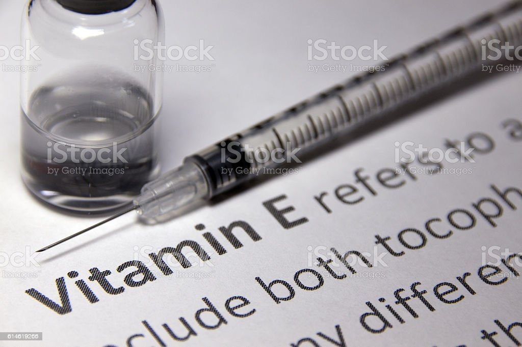 Vitamin E Injection stock photo